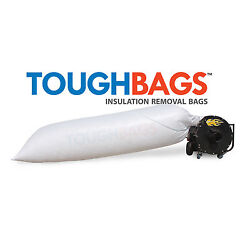 Insulation Vacuum Removal Bags 50 Pack - Won't Tear Or Rip, Holds 84 Cbft.