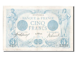 [203218] France 5 Francs 5 F 1912-1917 And039and039bleuand039and039 1914 Km 70 1914-04-01
