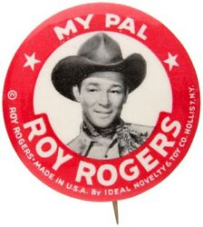 My Pal Roy Rogers Button Off 1950s Doll By Ideal Novelty And Toy Co.