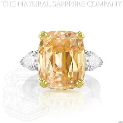 Padparadscha Sapphire Ring (J2633) Signed by Graff.