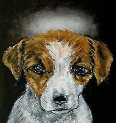 JAck Russell angel dog print on ceramic tile COASTER gift JSCHMETZ pop art