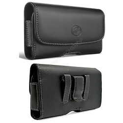Leather Horizontal Sideways Belt Clip Case Pouch Cover Holster for Cell Phones