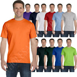 Hanes Mens 100% Cotton T Shirt Tagless Heavyweight ComfortSoft Tee S 3XL 5250T