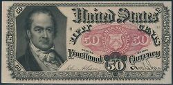 Fr1381 50andcent 5th Issue Fractional Currency Choice Cu Br3277