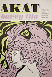 The Girl Who Liked Purple Flowers 1973 Czech A1 Poster