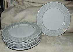 8 Imperial China Whitney Dinner Plates Designed By W Dalton Japan Fine Porcelain
