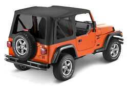 Bestop Sailcloth Replace A Top Tinted Black Diamond For 03-06 Jeep Wrangler Tj