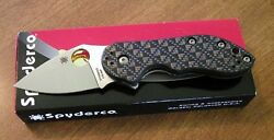 Spyderco New Carbon Fiber And Titanium Handle Dice Cts-xhp Blade Knife/knives