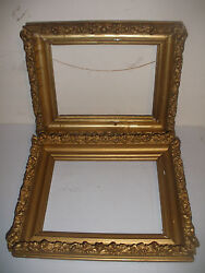 Pair Nice Antique Vintage Wood Frames 12 1/2x 10 1/2 For 9 1/4 X 7 Painting