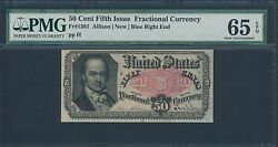 Fr1381 50andcent 5th Issue Fractional Currency Pmg 65 Gem Unc Epq Hv7967