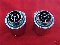 1956 56 CHEVY CHEVROLET DASH AIR CONDITIONING VENTS NICE REPRO