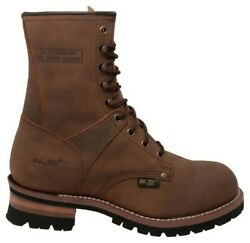 Adtec Menand039s 9 Work Logger Brown Crazy Horse Boots Leather Rugged Brown 1427