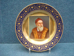Royal Vienna Porcelain Plate Nice Quality With Portrait Of Tizian 1850-1890