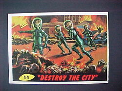 1962 Bubbles Topps Mars Attacks 11 Destroy The City Pack Fresh  Mint