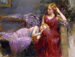 Pino A Mother's Love S/n W/coa Embellished Canvas 3200srp-offer