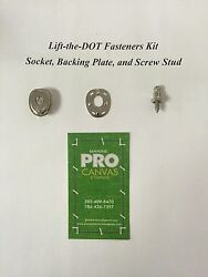 Lift The Dot Fasteners Kit S.s Socket Backing Plate And Screw Stud 3/8 100 Sets