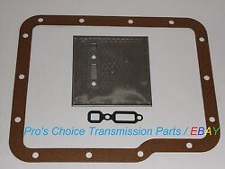 Aluminum Powerglide Transmission Oil Pump Filter And Pan Gasket Service Kit --all