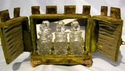 Vintage Scent Perfume Case In The Form Of A Castle Fitted With 3 Little Bottles