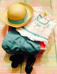 American Girl Samantha#x27;s Bicycling Outfit NIB Hat Boots $44.95