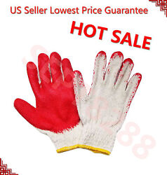Wholesale 300 Pairs Premium Red Latex Rubber Palm Coat Work Safety Gloves 002