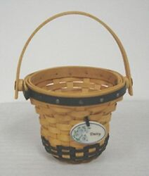Longaberger Mini Daisy Basket Signed By Daveand039s Siblings Jeff Wendy May Miniature