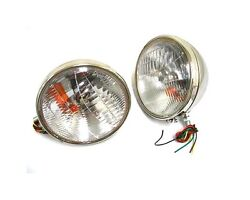 Nice Lights 1933 1934 Ford Car Stainless Headlights W/ Turn Signal Complete Pair