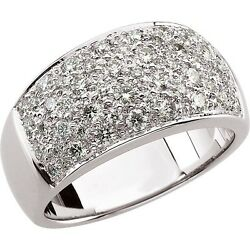 1.00 Ct. Pave Diamond Dome Ring 14k White Gold Or Yellow Gold Wide Cigar I1 G-h