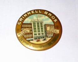1900 Grinnell Bros Michigan's Leading Music House Advertising Pocket Mirror