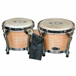 GP Percussion B2 Pro Series Tunable 6quot; amp; 7quot; Solid Birch Bongos Natural