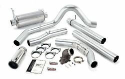 Banks Monster Exhaust And Elbow For 99 Ford F250 350 Powerstroke 7.3l W/ Cat Black