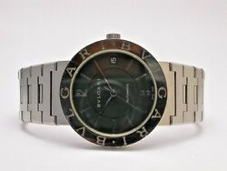 Bvlgari Bb 33 Ss Automatic Stainless Steel Black Dial Mens Watch