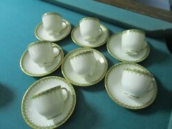 W.guerin And Co Limoges France 1891-1932 - 7 Coffee Cups And Saucers [70]