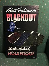 Old Advertising Mens Holeproof Sock Sign