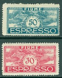 Fiume 1920. Sass E1a-2a Unissued Change Of Colors. Catalog Andeuro800.00.