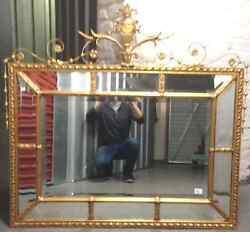 Beautiful George Iii Style Par Clos Gilt Neoclassical Gold Mirror Early 20th C.