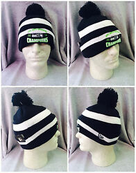 Seattle Seahawks New Era Knit Beanie Hat Cap Pom Nfc Division Champions Champs