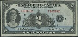 Canada Bc-4 2.00 1932 French Very High End Vf Original Note Wl8161