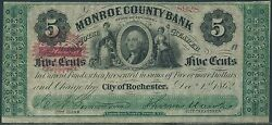 5andcent Monroe County Bank City Of Rochester No 8928 Dec 11862 Br9440