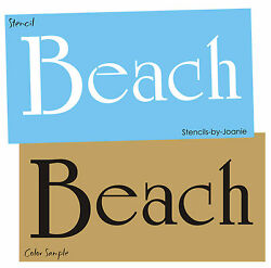 Stencil Beach for Lake Cabin Bath House Sea Cottage Nautical DIY Craft Art Signs $9.95