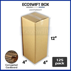 125 4x4x12 Cardboard Packing Mailing Moving Shipping Boxes Corrugated Box Carton