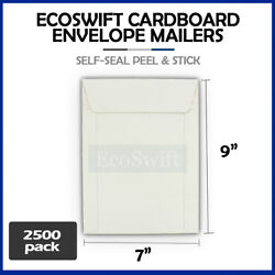 2500 - 7 X 9 White Cd/dvd Photo Shipping Flats Cardboard Envelope Mailers 7x9