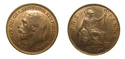 Great Britain 1913 One Penny Mint State 4981