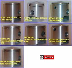 New Piston Set Kit With Rings Ring For Fits Rotax Pistons Complete Circlips