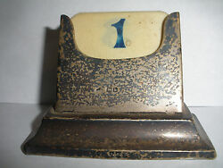 Antique Early 20thc Sheffield English Sterling Silver Perpetual Calendar