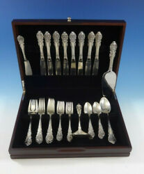 Sir Christopher By Wallace Sterling Silver Flatware Set Service 37 Pieces