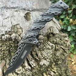 Tacforce Awesome Stone Wash Chain Outdoor Camping Hunting Survival Pocket Knife