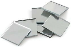 Mirror Tile Squares 1/2 X 1/2 Inch Square Shape Real Glass Mirrors Disco Ball