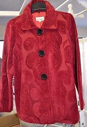 3 Sisters Jacket S 4-6 Sophie Womenand039s Swing A-line Dressy Coat Usa Made 5024