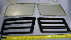 Suzuki Outboard Boat Motor Cowl Louver Cover And Louver Set, Port And Starboard