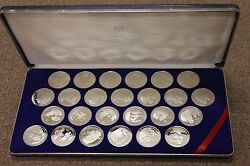 1992 25 British Virgin Islands 500th Anniversary Proof 25 Coin Set- In Case